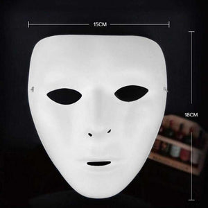 Cosplay Halloween Festival PVC White Mask
