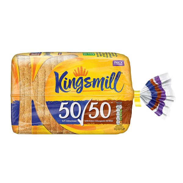 Kingsmill 50/50 Thick 800g-Online Groceries EUK Store