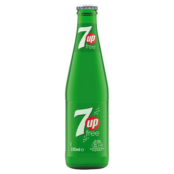 7UP Free Glass Bottle 330ml