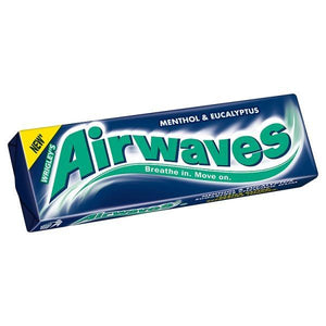 Airwaves Menthol & Eucalyptus Flavour Sugarfree Chewing Gum 10 Pellets-14g