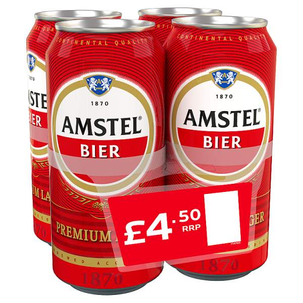 Amstel Lager Beer Can 4 x 440ml-Online Groceries EUK Store
