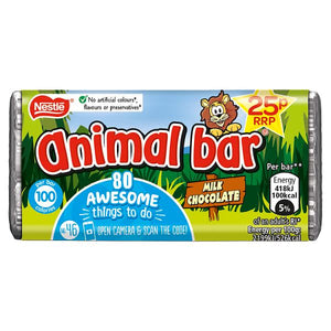 Animal Bar Milk Chocolate 19g OR 5 for £1