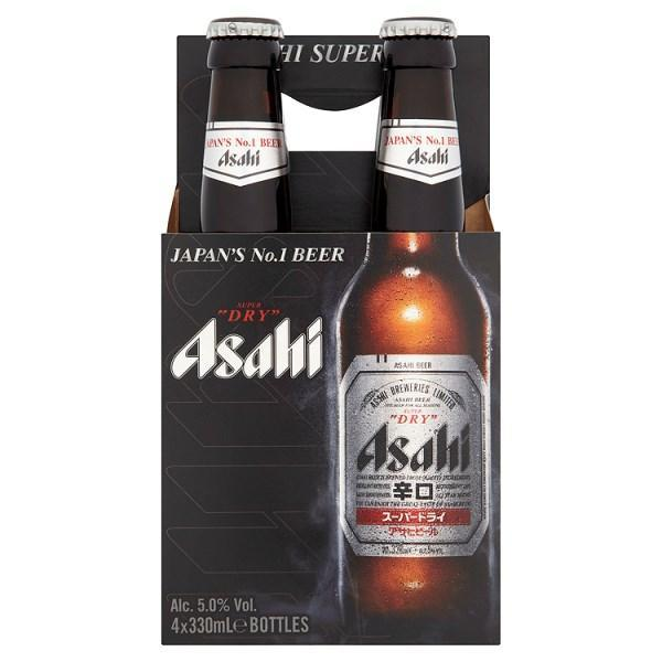 Asahi Super Dry Beer 4 x 330ml-Online Groceries EUK Store