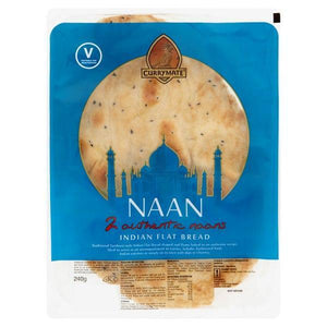 Currymate 2 Authentic Naans 240g-Online Groceries EUK Store