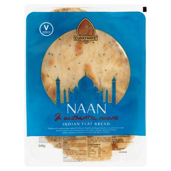 Currymate 2 Authentic Naans 240g