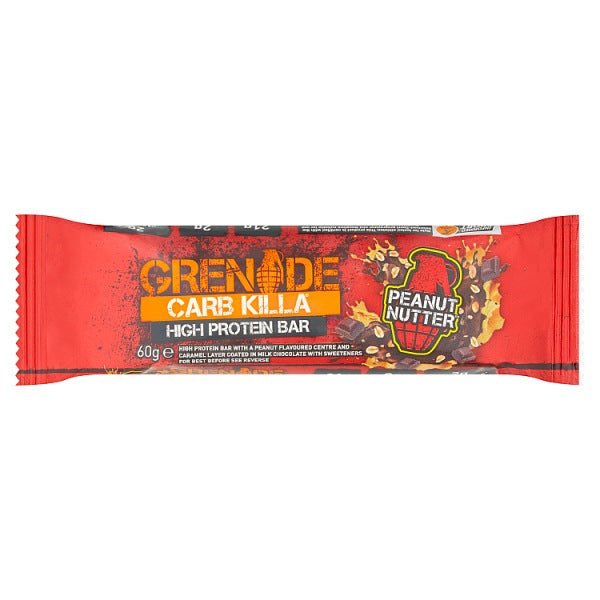 Grenade Carb Killa High Protein Bar Peanut Nutter 60g-Online Groceries EUK Store