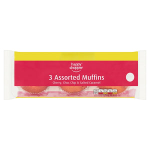 Happy Shopper 3 Assorted Muffins 273g-Online Groceries EUK Store