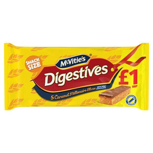 McVitie's Digestives 5 Caramel Millionaire Slices with Milk Chocolate-Online Groceries EUK Store