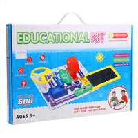 TEAKT  41 pcs Kids DIY Circuits Smart Electronic Block Kit  Discovery Educational Science Toy TEAKT