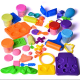Magic Sand with Molds and Tools Kit Educational Toy DIY kids Gift Multiple Color (6) Molding Sand 24 PCs