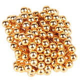 216PCS 3MM Golden&Silver DIY Magnetic Balls Sphere Beads Magic Magnet Puzzle Executive Building Block 2 Color
