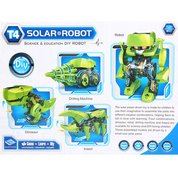 T4 Solar Dinosaur Robot DIY Educational Science Renewable Energy in Retail Box