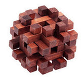 Wooden Puzzles IQ Brain Teasers Kong Ming Lock Toys Science & Discovery Toys Educational Toy Stress Relievers Toys IQ Test Wood Girls'