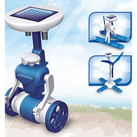 DIY 6 in 1 Solar Powered Gadgets For Boy Children Educational ABS White / Blue