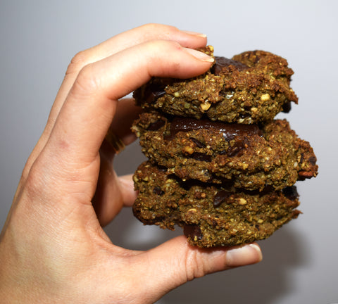 vegan hemp cookies. nutritious and delicious! perfect for breakfast, or anytime. cooked using products from The Buddha Box