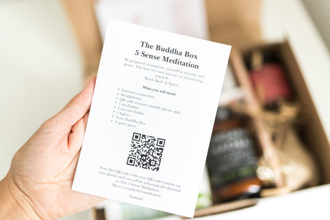 The Buddha Box 5 sense meditation will help you to connect with yourself and find balance