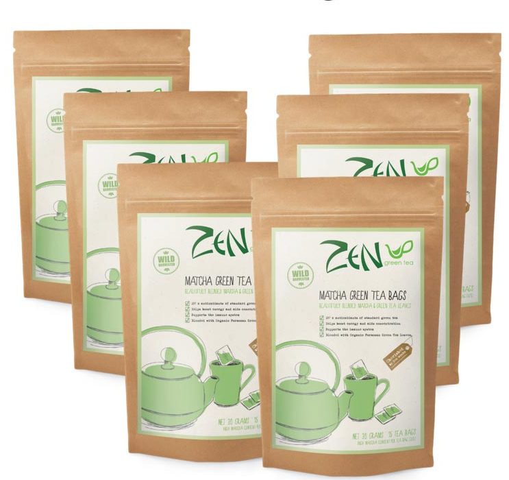 Zen Green Tea - Matcha Tea Bags - The-WellnessCo.