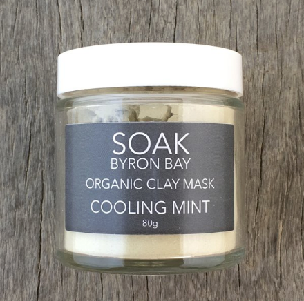 Soak Byron Bay - Cooling Mint Clay Mask - The-WellnessCo.