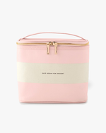 Lunch Tote - Blush Rugby Stripe