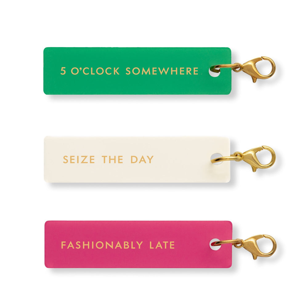 Planner Charm Set - Fashionably Late
