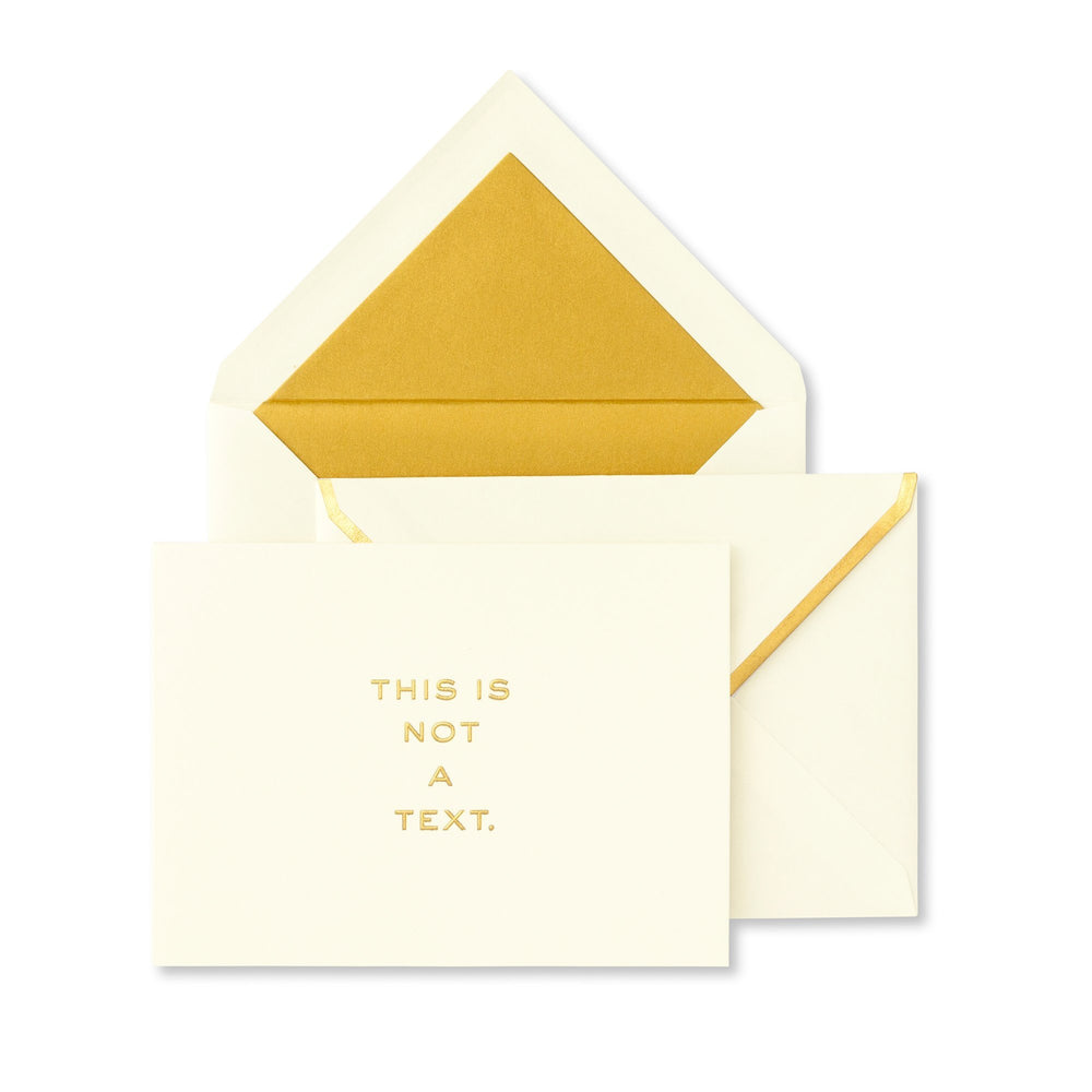 Notecard Set - This Is Not A Text