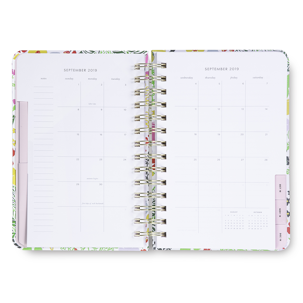 17 Month Planner Medium - Garden Posy