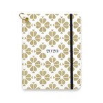 12 Month Planner Medium - Gold Spade Flower