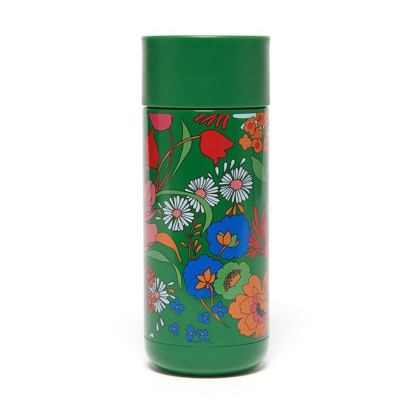 Stainless Steel Thermal Mug - Emerald Super Bloom