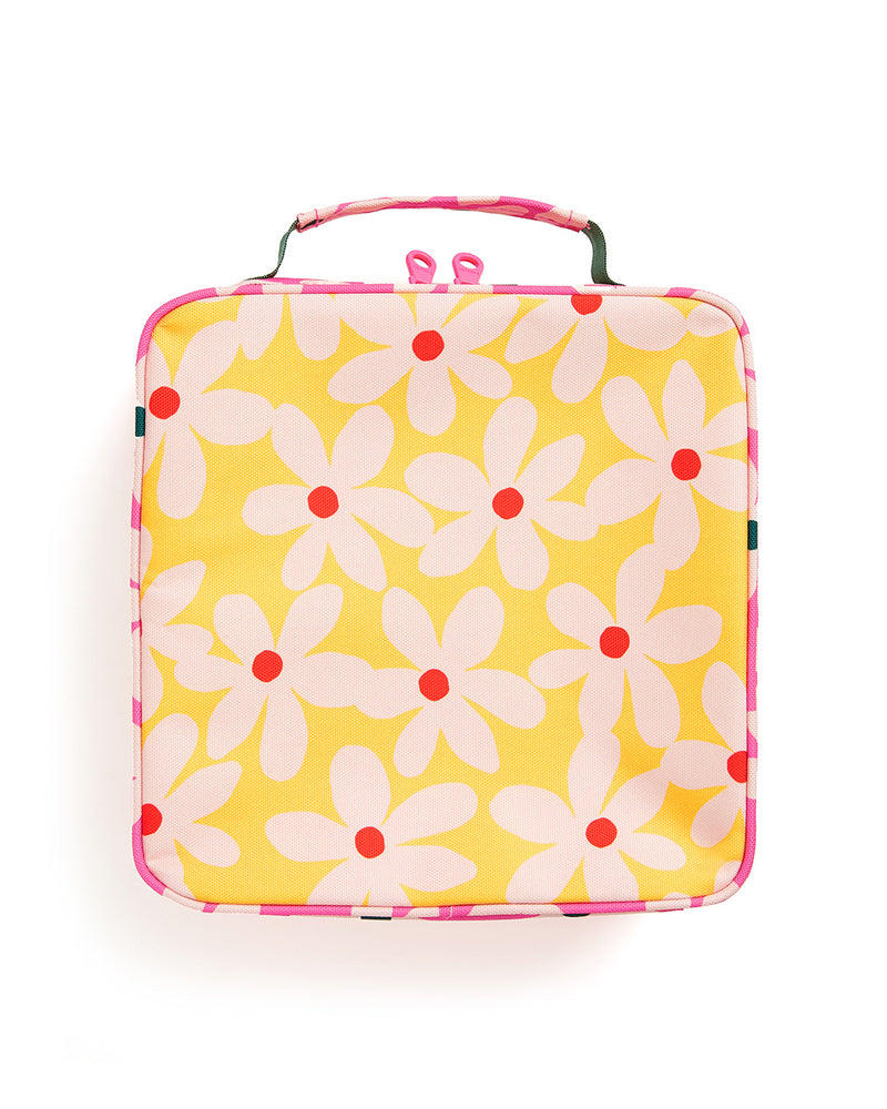 What's For Lunch? Square Lunch Bag - Daisies