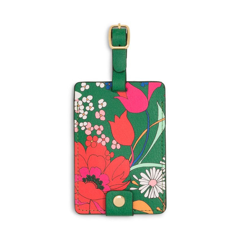 The Getaway Luggage Tag - Emerald Super Bloom