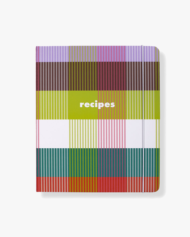 Recipe Book - Rainbow Plaid