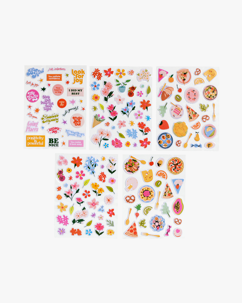 Puffy Sticker Set - Assorted