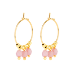 Creole Hoop Earrings - Pink