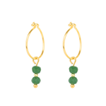 Creole Hoop Earrings - Green