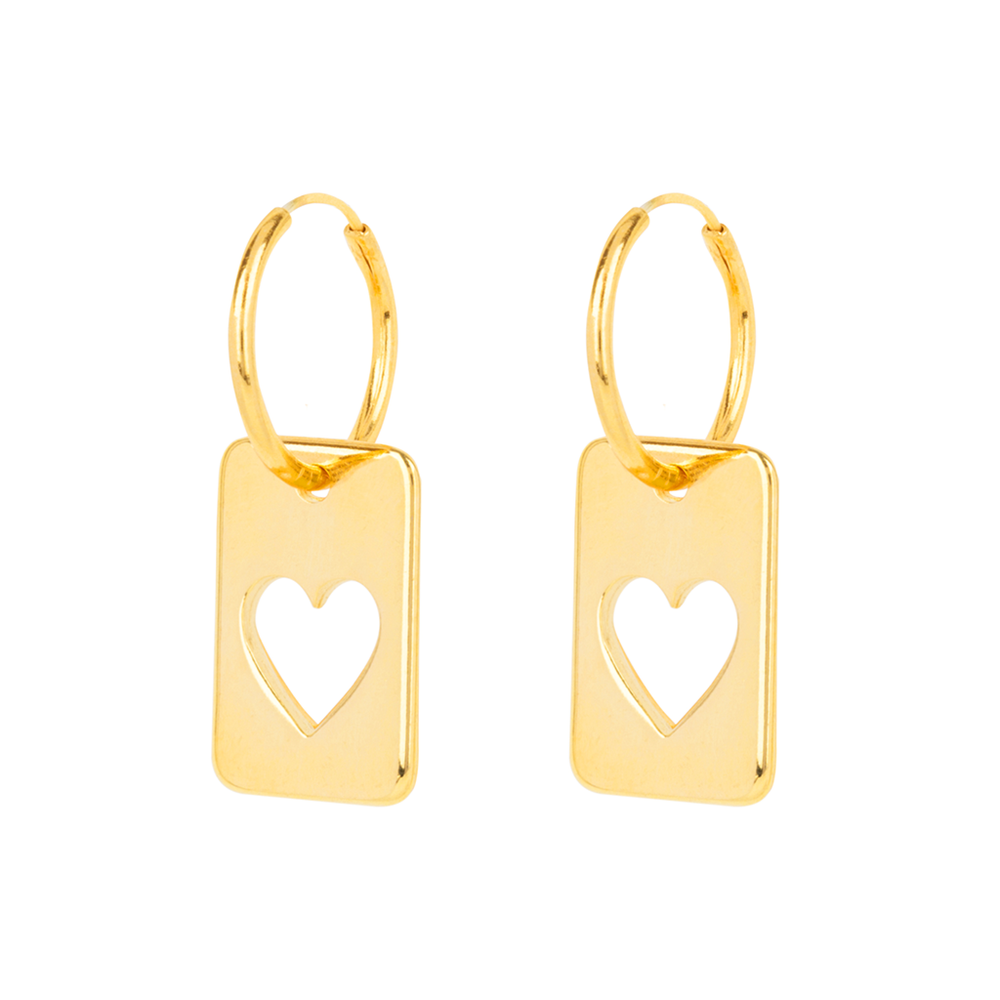 Earrings - Heart Pendants