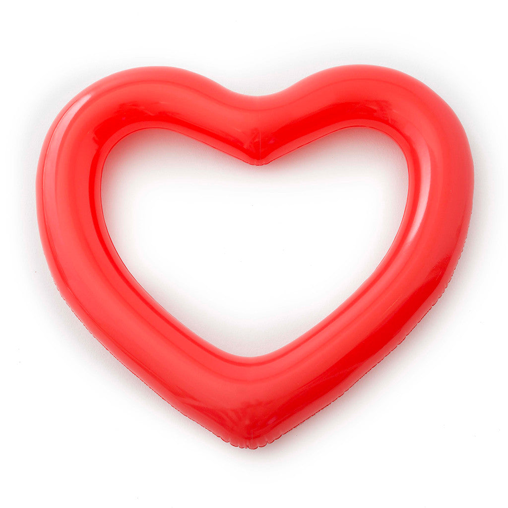 Beach, Please! Jumbo Heart Innertube - Red