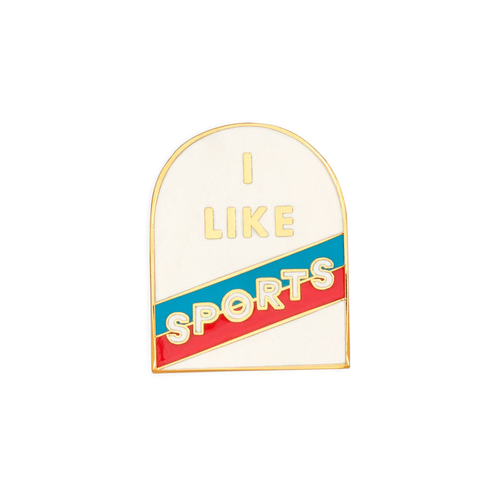 Enamel Pin - I Like Sports