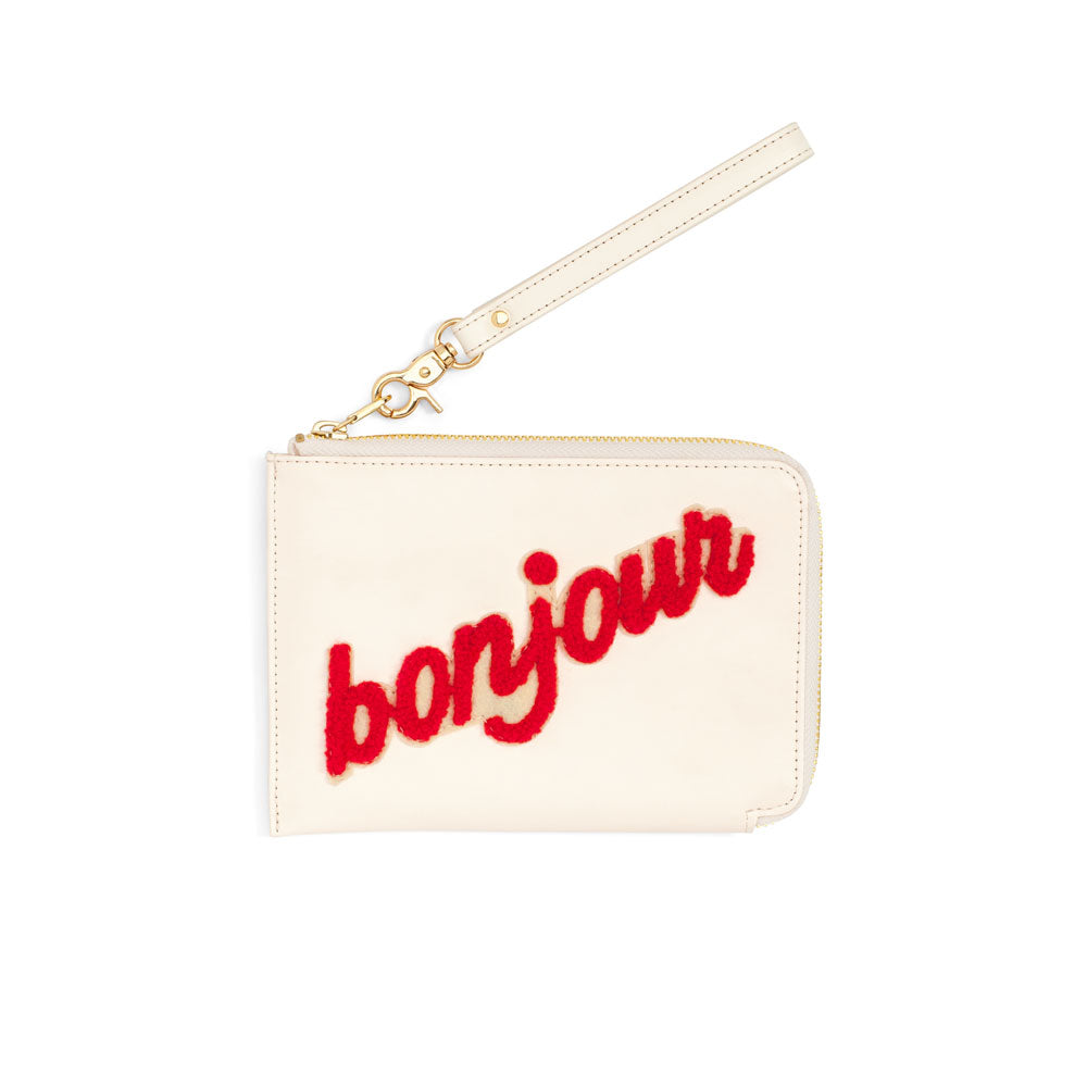The Getaway Travel Clutch - Bonjour