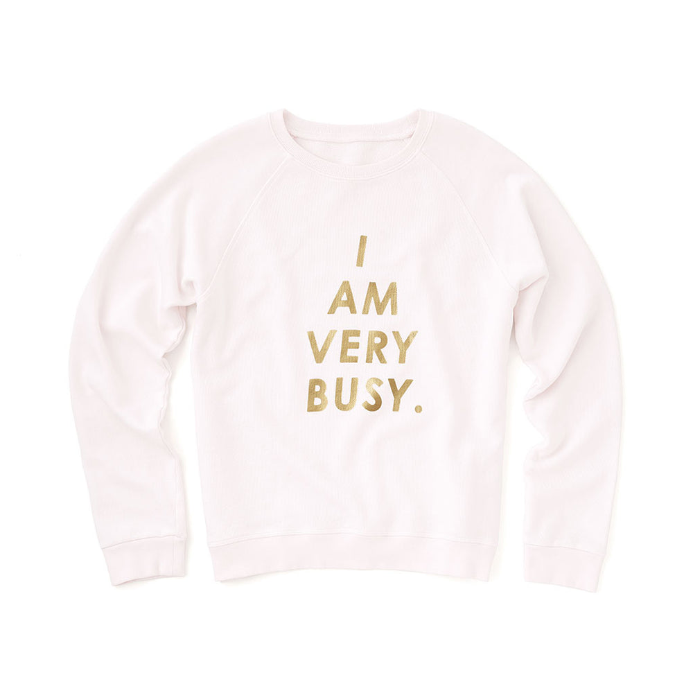 Sweatshirt - I Am Very Busy (Ivory)