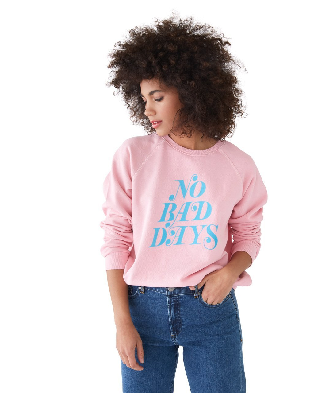 Sweatshirt - No Bad Days (Pink)