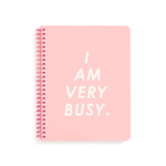 Rough Draft Mini Notebook - I Am Very Busy (Pink/White)
