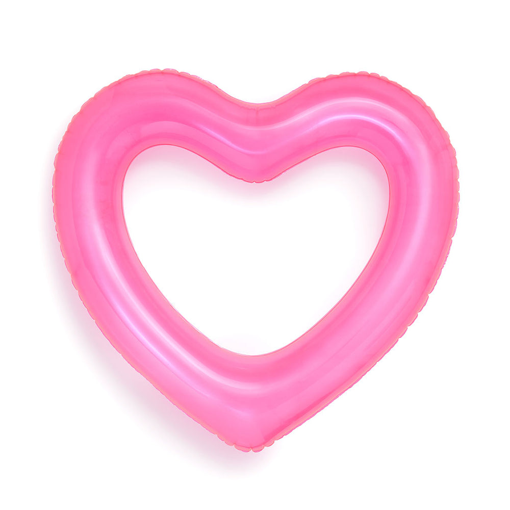 Beach, Please! Jumbo Heart Innertube - Neon Pink