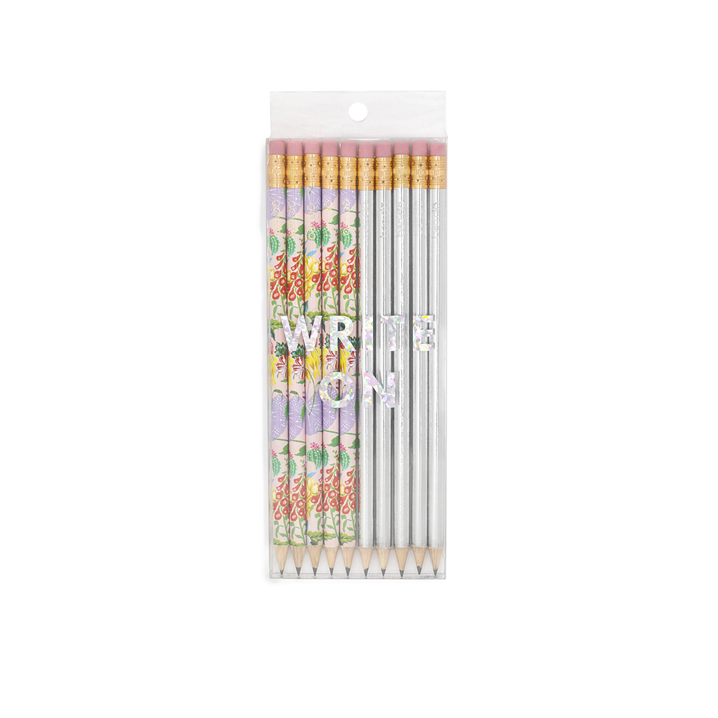 Write On Pencil Set - Garden Party