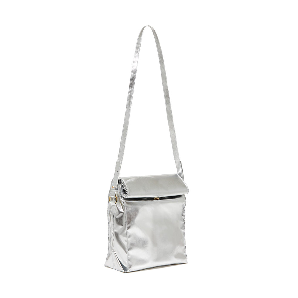 What's For Lunch Crossbody Bag - Metallic Silver