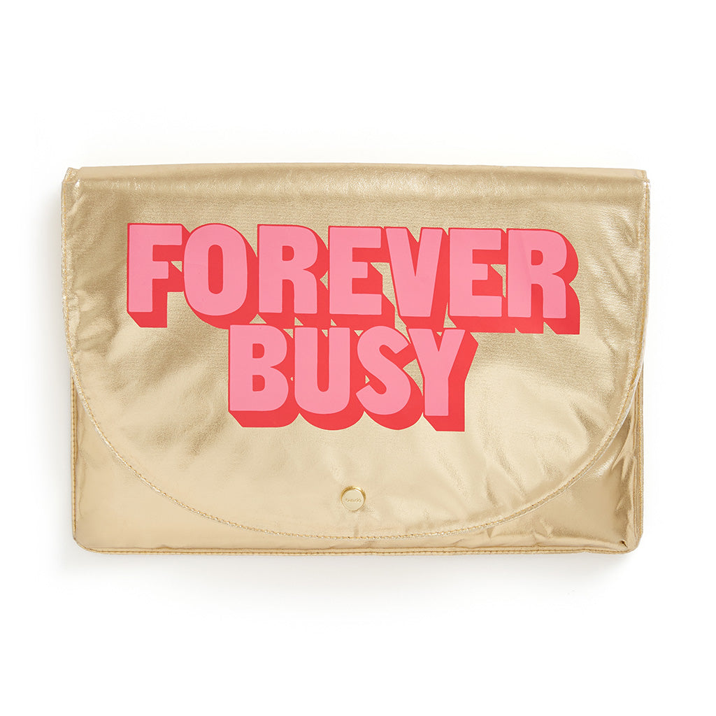 Logged On Laptop Sleeve - Forever Busy
