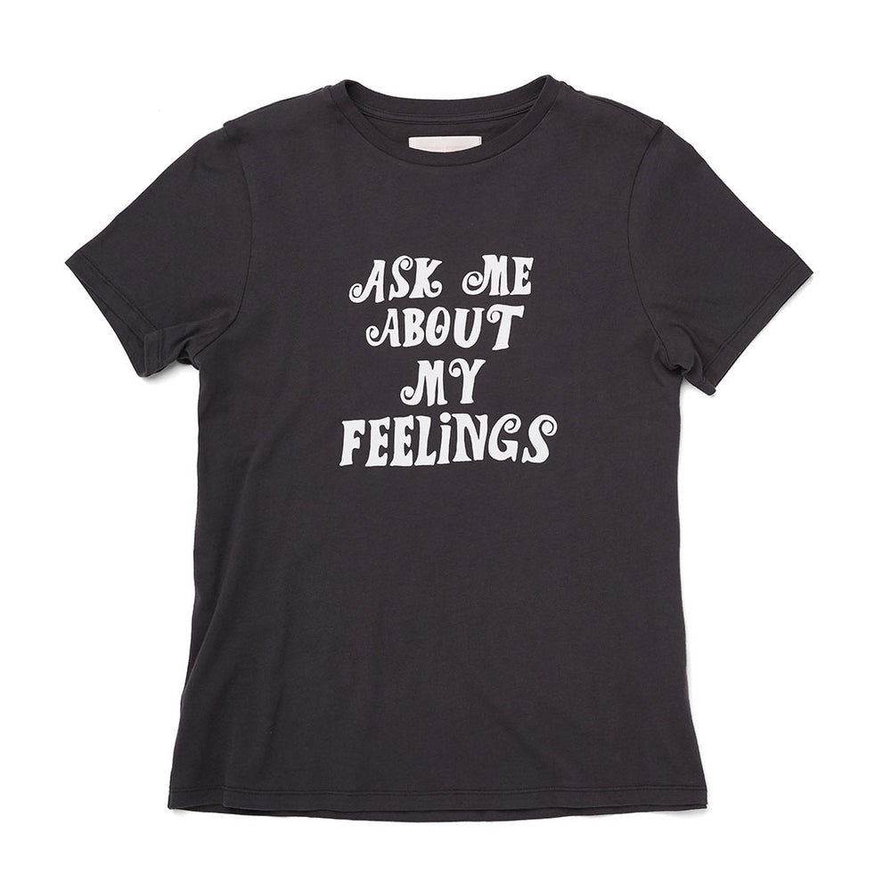 Classic Tee - Ask Me About My Feelings (Vintage Black)