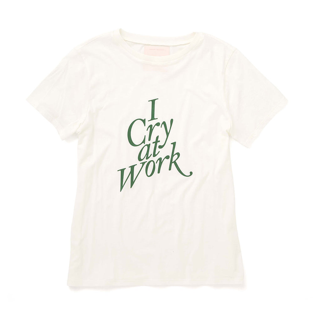 Classic Tee - I Cry At Work (Ivory)