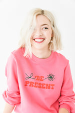 Balloon Sleeve Sweatshirt - Be Present