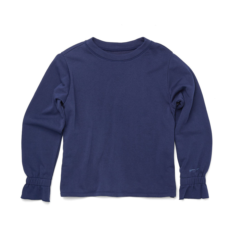 Ruffle Sweatshirt - True Navy