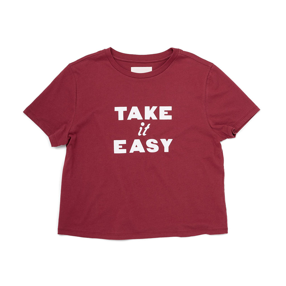 Boxy Tee - Take It Easy (Dahlia)